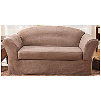 Sure Fit Soft Suede Supreme 2 pc Sofa Slipcover