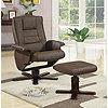 Save 35% Swivel Reclining Chair+ Ottoman Brown