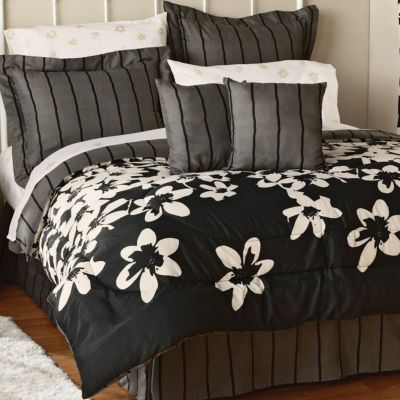 Black and White Floral Bedding Totally Kids Totally