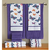 14-pc. Butterfly Print and Solid Towel Set