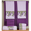 14-pc. Wisteria Print and Solid Towel Set