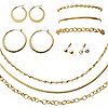 Goldtone 10PC Jewelry Set
