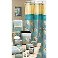 Tropical Leaf Shower Curtain