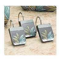 Tropical Leaf 12pc Shower Hooks