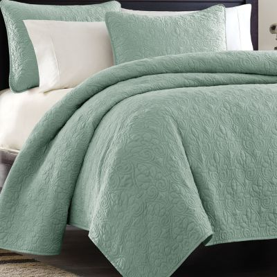 Madison Park Vancouver 3pc Coverlet Set Vancouver Coverlet Ivory