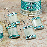 Sequins 12pc Shower Hooks