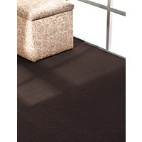 Rugby Solid Color 12x12 Rug - Chocolate