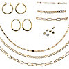 Goldtone 10 Piece Jewelry Set