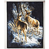Deer Couple & Bears Fun Fur Throw