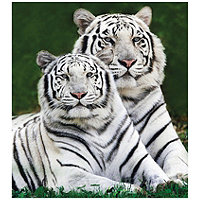 White Tiger & Deer Fun Fur Throw