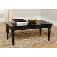 3pc Spindle Leg Coffee & End Tables - Black