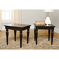 Spindle Leg End Table-Black