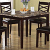 Monarch Specialties Marble Look 5 Pc Dining Set