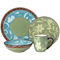 Pfaltzgraff Patio Garden 16pc Dinnerware Set for 4