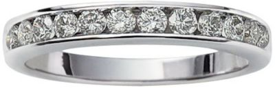 10K White Gold 1/2 ct tw Diamond Channel Set Band 6