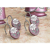 Avanit Purple 12pc Shower Hooks