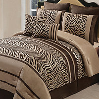 Laken Queen 8pc Comforter Set - Brown