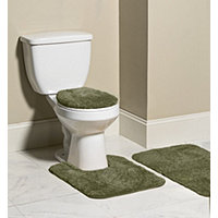 Mohawk 3pc Bliss Bath Rug Set - Burnt Olive