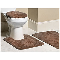 Mohawk 3pc Bliss Bath Rug Set - Brown