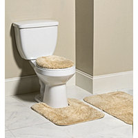 Mohawk 3pc Bliss Bath Rug Set  - Tan