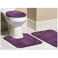 Mohawk 3pc Bliss Bath Rug Set - Plum