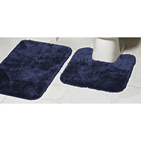 Mohawk Ribbon 2pc Bath Rug Set - Navy