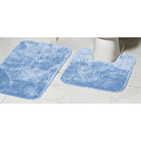 Mohawk Ribbon 2pc Bath Rug Set - Sky Blue