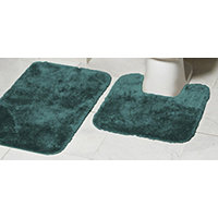 Mohawk Ribbon 2pc Bath Rug Set - Hunter Green