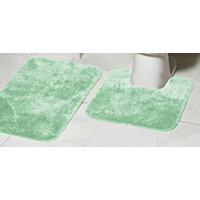 Mohawk Ribbon 2pc Bath Rug Set - Sea Spray