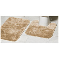 Mohawk Ribbon 2pc Bath Rug Set - Linen