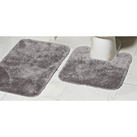 Mohawk Ribbon 2pc Bath Rug Set - Grey Flannel