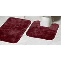 Mohawk Ribbon 2pc Bath Rug Set - Merlot