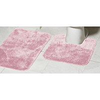 Mohawk Ribbon 2pc Bath Rug Set - Rose