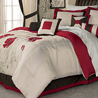 McLeland Design Red Poppies Queen Comforter Set