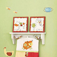 CoCo and Company Baby Farm 2Pc Canvas Art Set