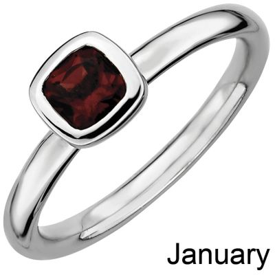 Stackable Expressions SS Square Birthstone Ring December 5