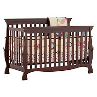 Carrara 4 in 1 Fixed Side Convertible Crib Cherry