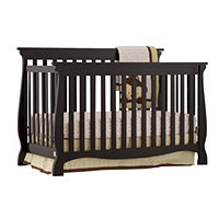 Carrara 4 in 1 Fixed Side Convertible Crib Black