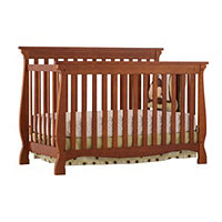 Carrara 4 in 1 Fixed Side Convertible Crib Cognac