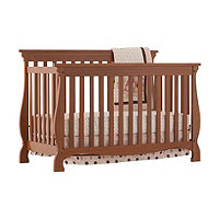 Carrara 4 in 1 Fixed Side Convertible Crib Oak