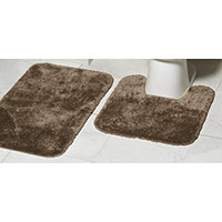 MyHome 2pc Bath Rug Set - Chocolate