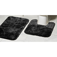 MyHome 2pc Bath Rug Set - Rich Black