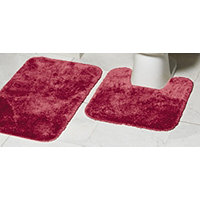 MyHome 2pc Bath Rug Set - Garnet