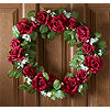 Lighted Rose Wreath