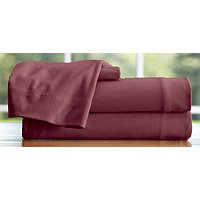 Microfiber Flannel Twin Sheet Set - Burgundy