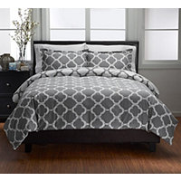 Lyon 3-Piece Reversible Full/Queen Duvet Cover Set