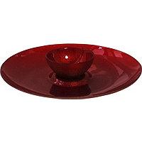Linen Glitter Red Chip & Dip