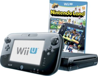 Wii U 32GB Black Console with NintendoLand Game
