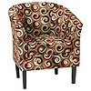 McLeland Design Flared Armchair Merlot