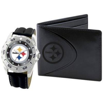 NFL Men's Game Time Watch & Wallet Set